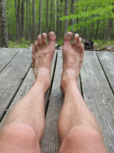 I like to hike in sandals. Of course, they don't keep the dirt out.
